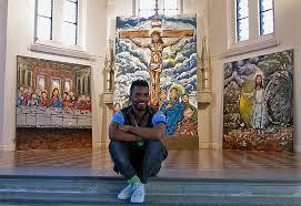 Graffitimåleri bjuds in i kyrkan